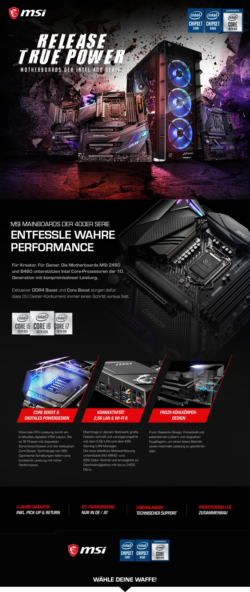 MSI Intel 400-Series Gaming