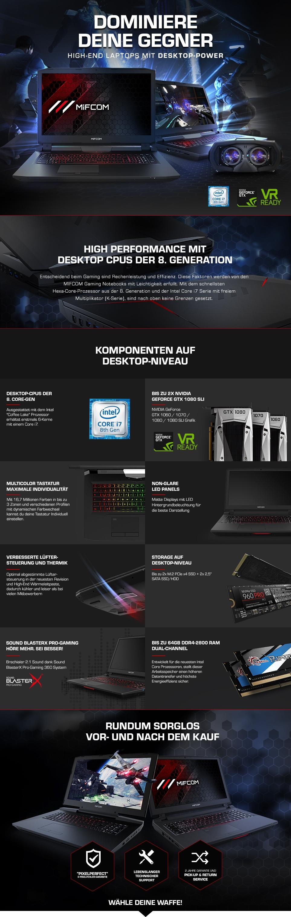 Gaming Laptops X-Serie