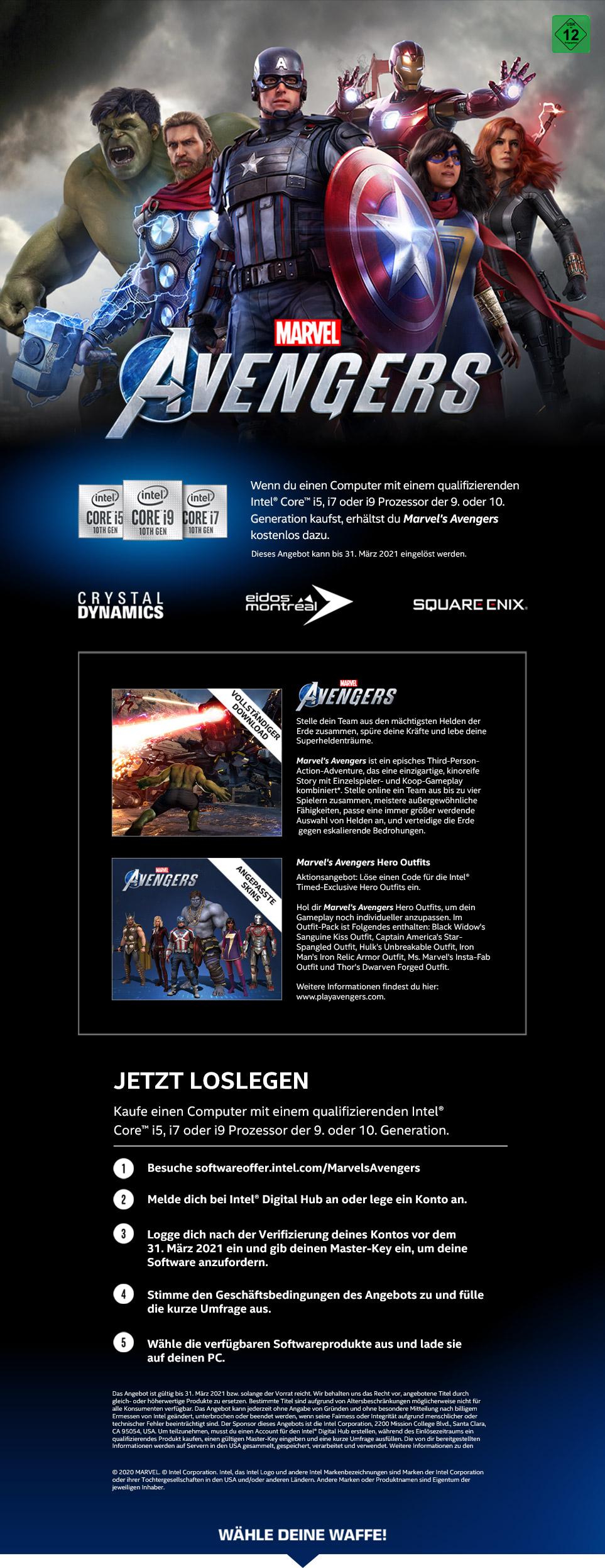"Intel ""Marvel's Avengers"" Bundle"
