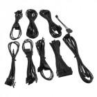Kabel Sleeves Komplett-Set | Dual-Grafikkarten | Schwarz