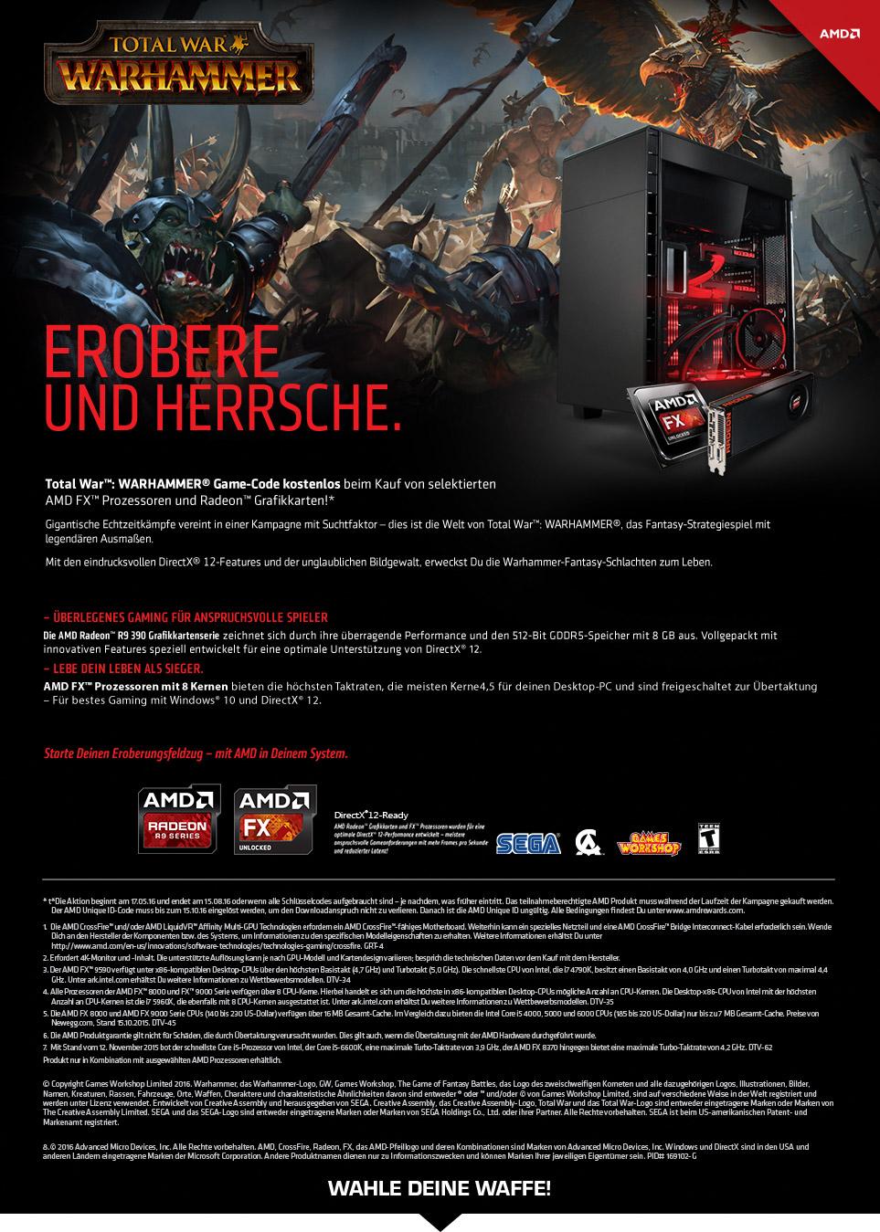 Gaming PCs mit AMD Warhammer Bundle