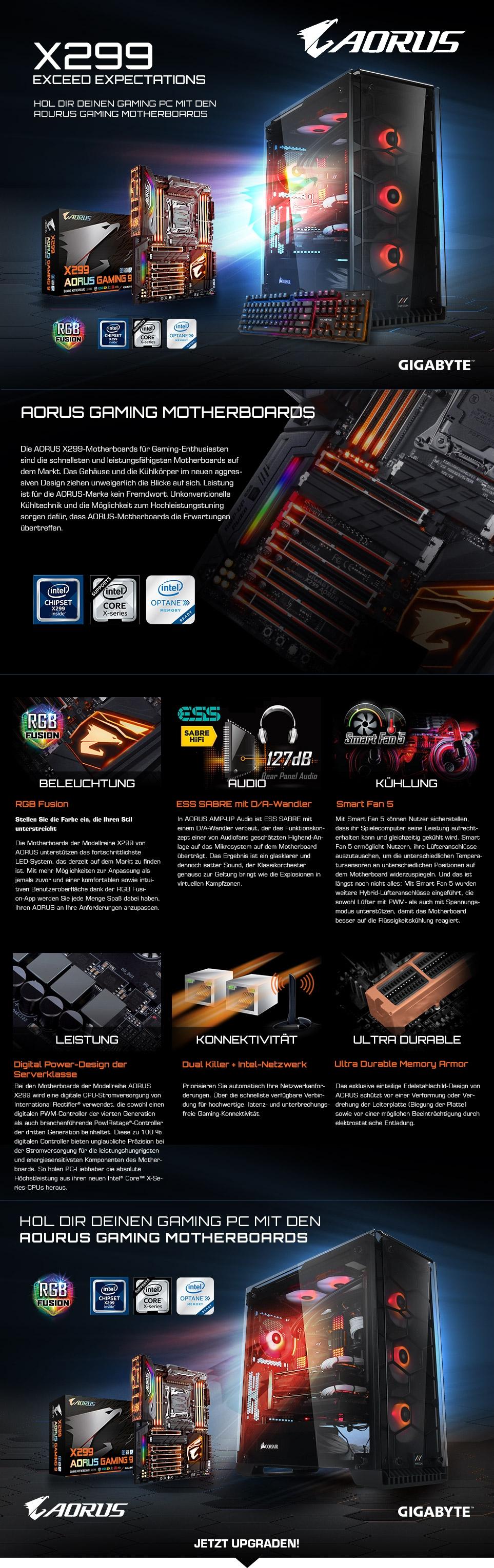 Hol Dir deinen Gaming PC mit den Gigabyte Aorus Gaming Motherboards