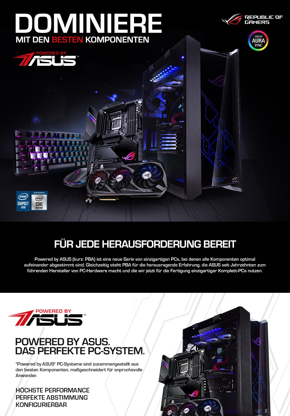 Powered by ASUS Landingpage Teil 1