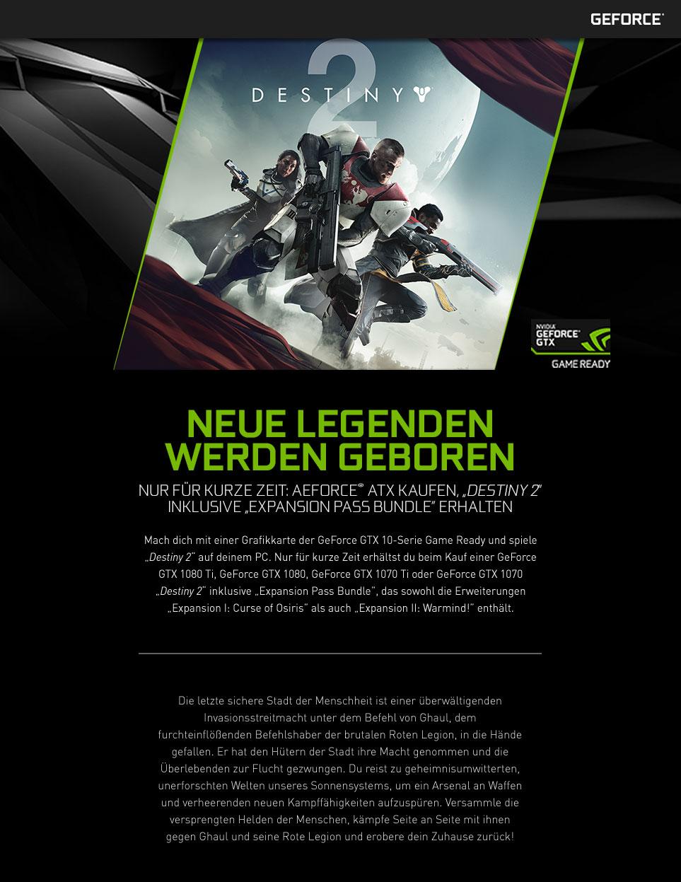 NVIDIA GeForce Destiny 2