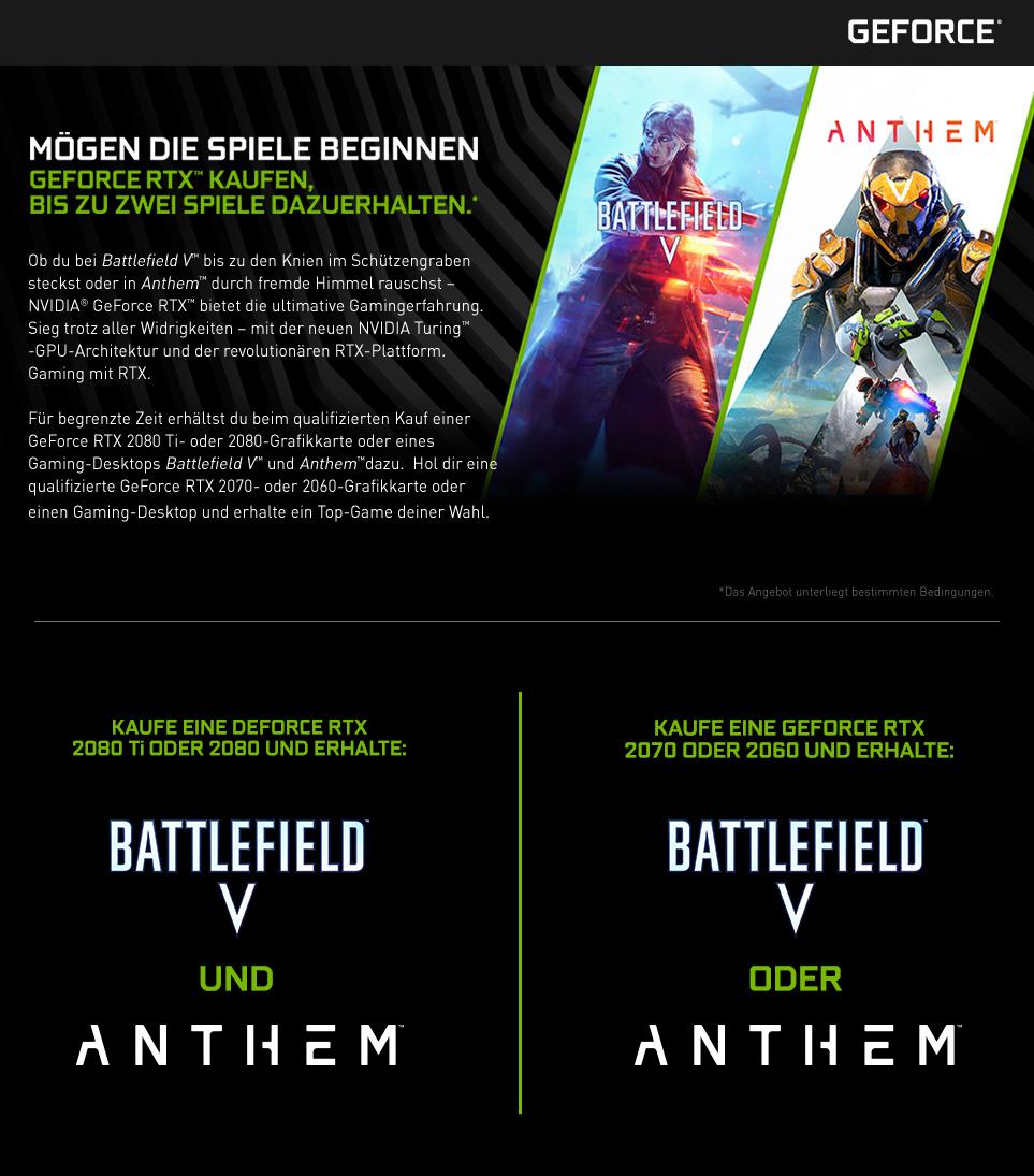 Hole dir jetzt Battlefield V und Anthem