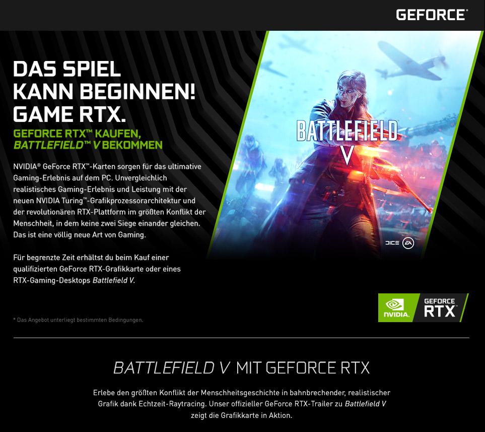 Battlefield V: Das Spiel kann beginnen - Nur für kurze Zeit: GEFORCE RTX Kaufen, Battlefield V erhalten!