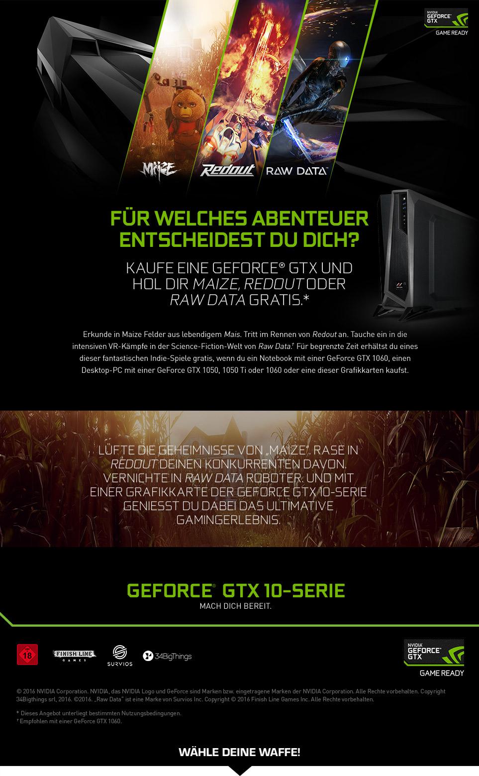 Gaming PCs mit NVIDIA Indie Game-Bundle