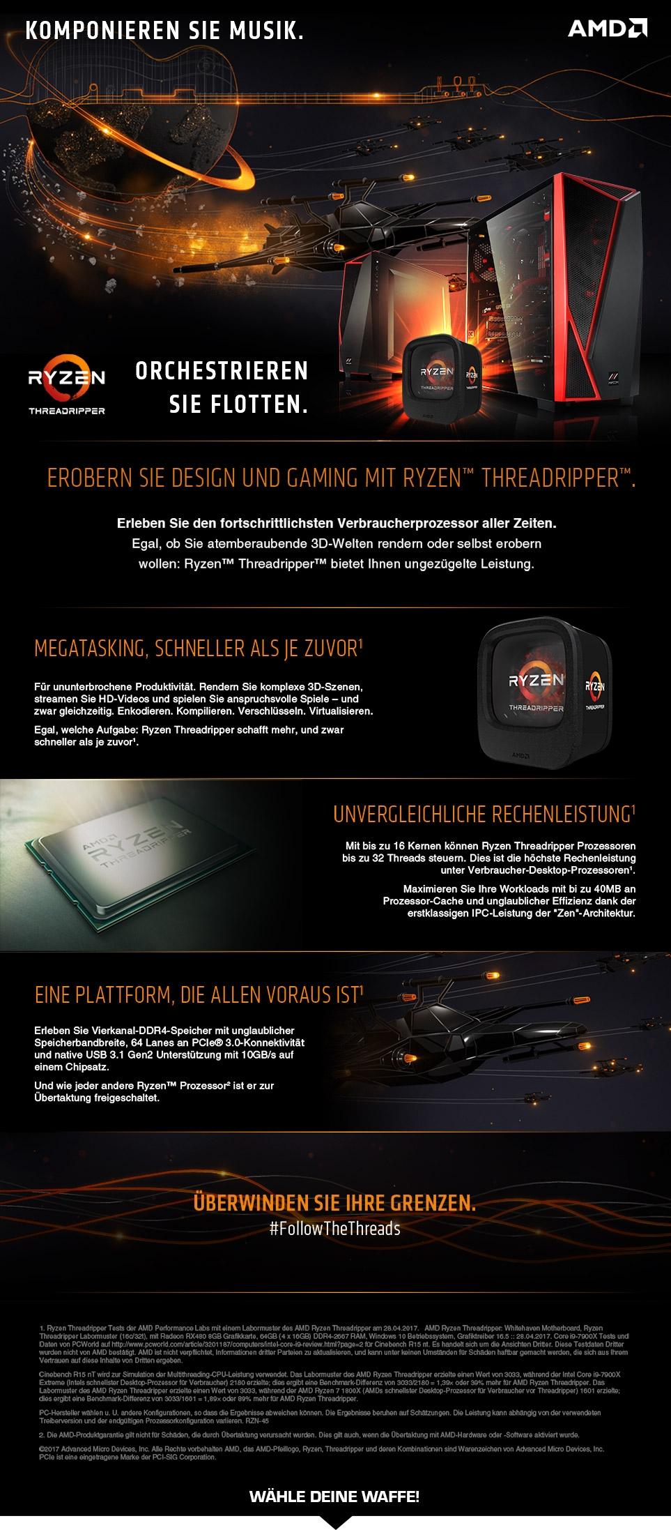 MIFCOM PCs mit AMD Ryzen Threadripper Prozessoren
