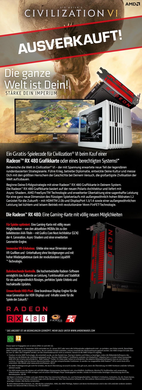 Gaming PCs mit AMD Civilization VI Bundle