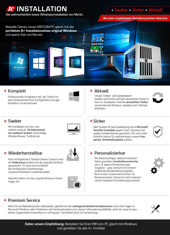 A-Plus Installation von MIFCOM