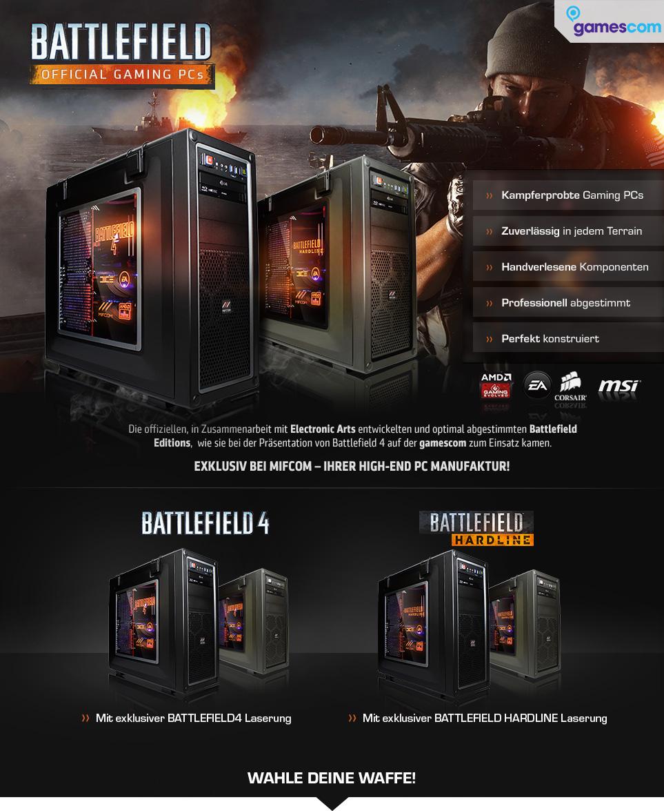 Battlefield Gaming PCs