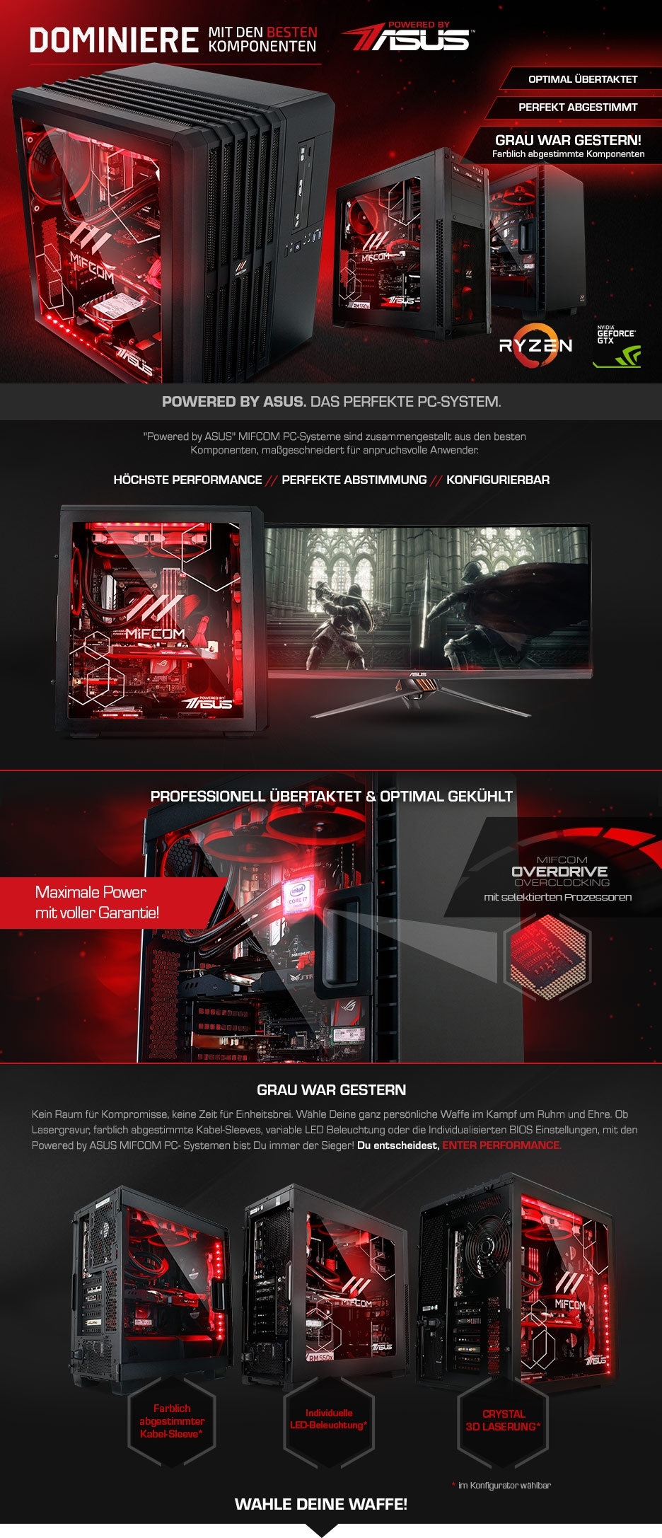 Gaming PCs Powered by ASUS