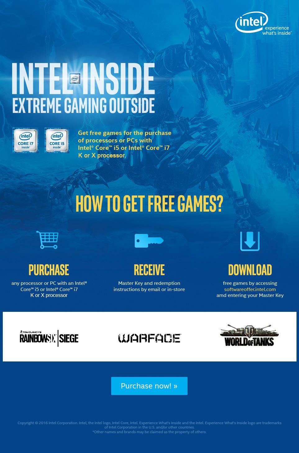 Gaming PCs mit Intel Game Bundle