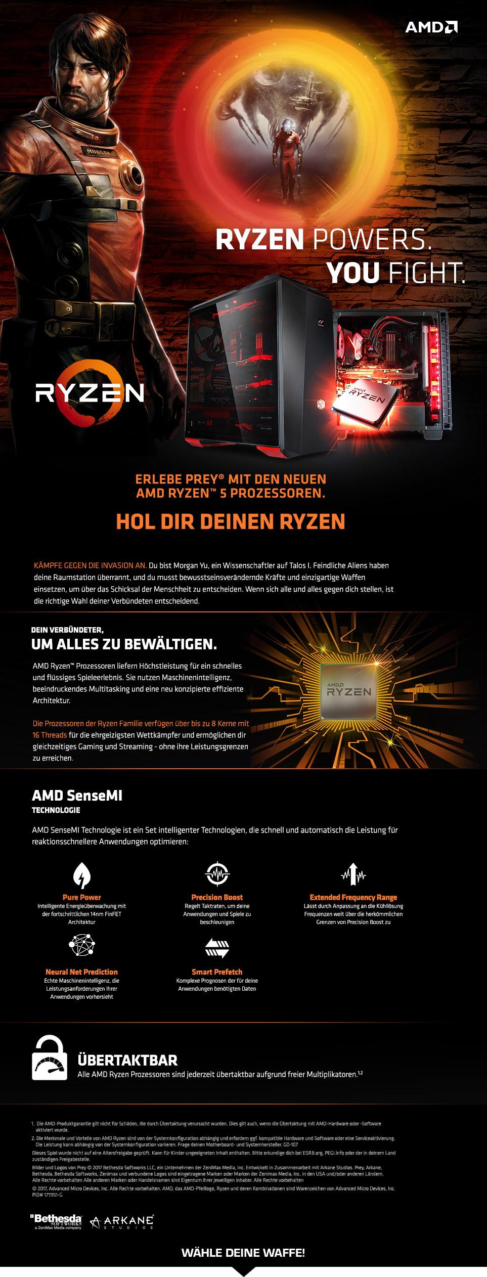 Gaming PCs mit AMD Ryzen 5 Prozessoren