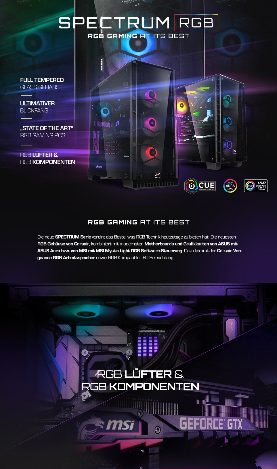 MIFCOM Spectrum: Der ultimative High-End RGB-Gaming PC