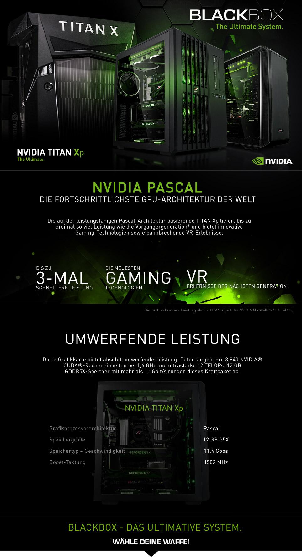 Blackbox High-End Gaming PCs mit NVIDIA TITAN Xp