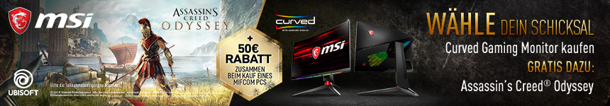 MSI Curved Gaming Monitore inklusive Assassin's Creed: Odyssey