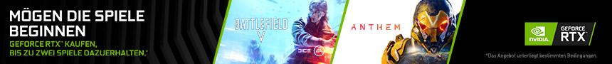 GeFore RTX Battlefield V + Anthem Bundle