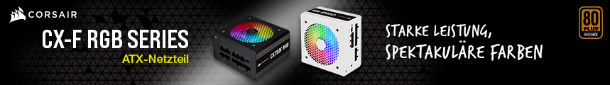 Corsair CX-F RGB Series Banner