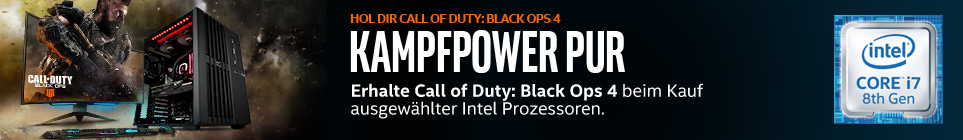 Intel CPUs inklusive Call of Duty: Black Ops 4